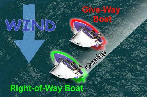 starboard tack right-of-way